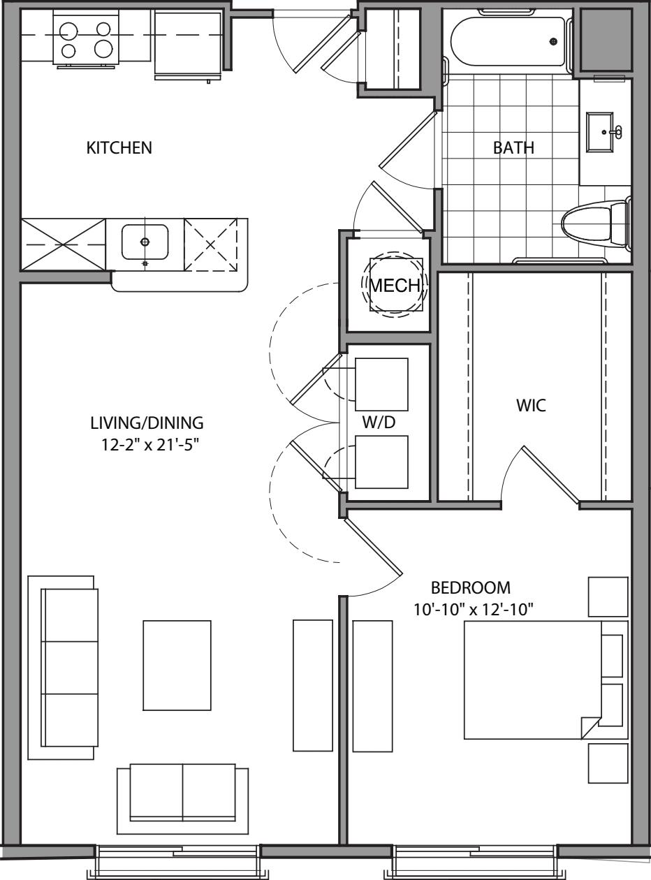 1 bedroom I_201-215