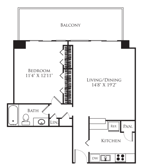 1 Bedroom Tower