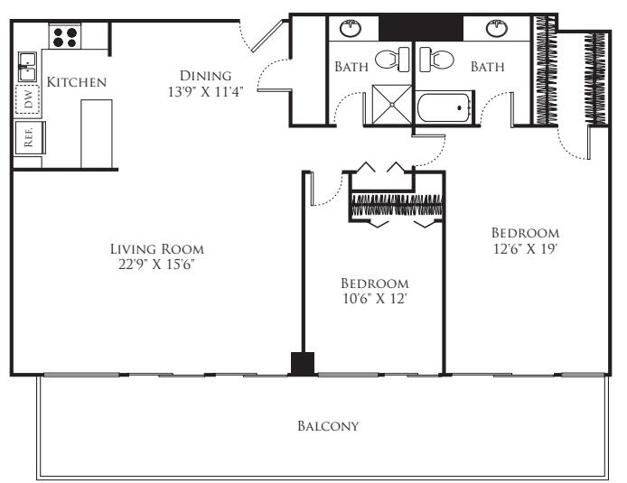 2 Bedroom - Tower