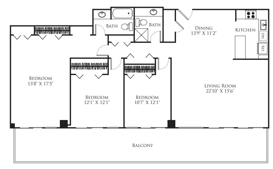 3 Bedroom Tower
