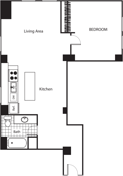 One Bedroom D3