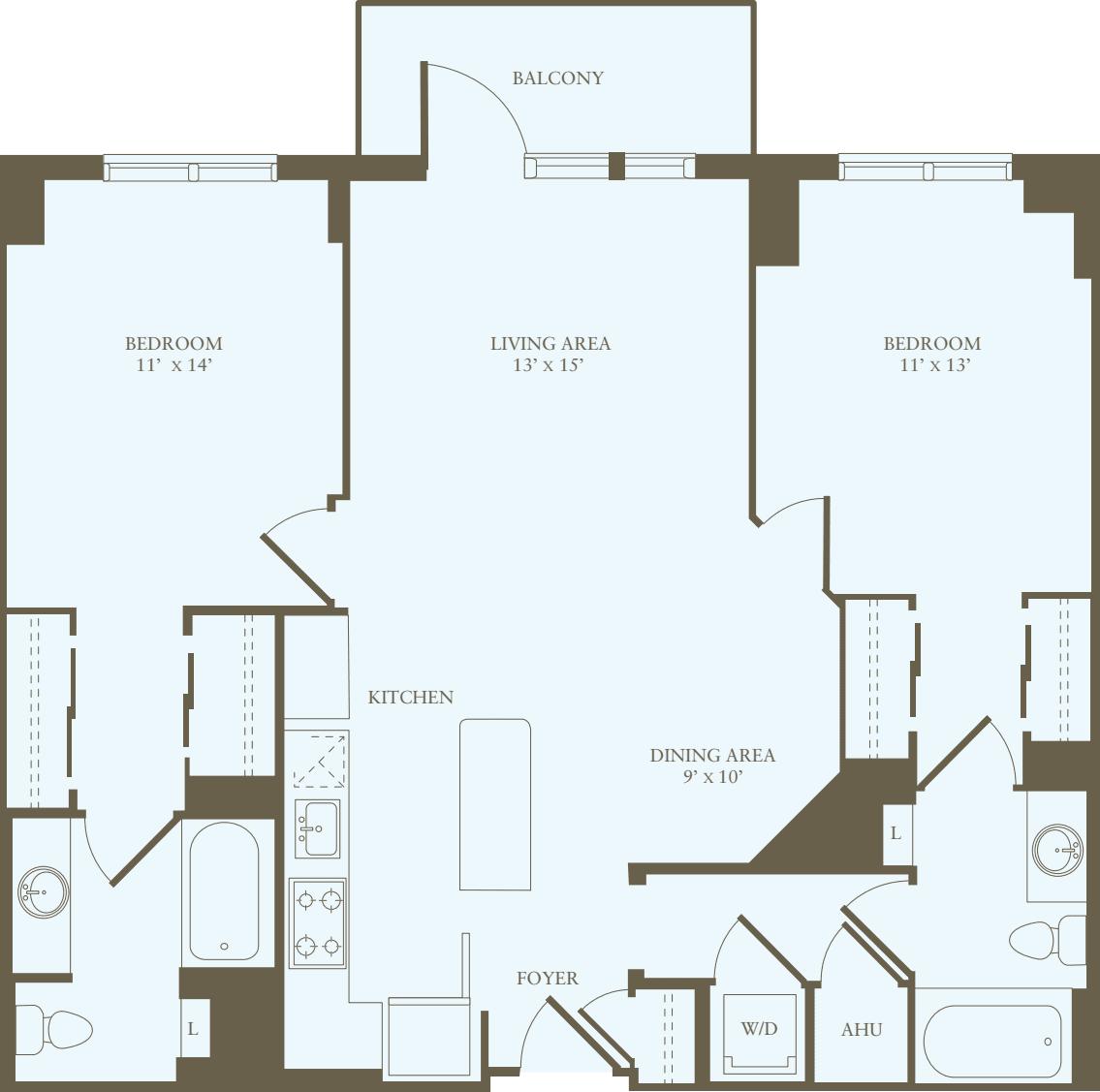 2 Bedrooms U