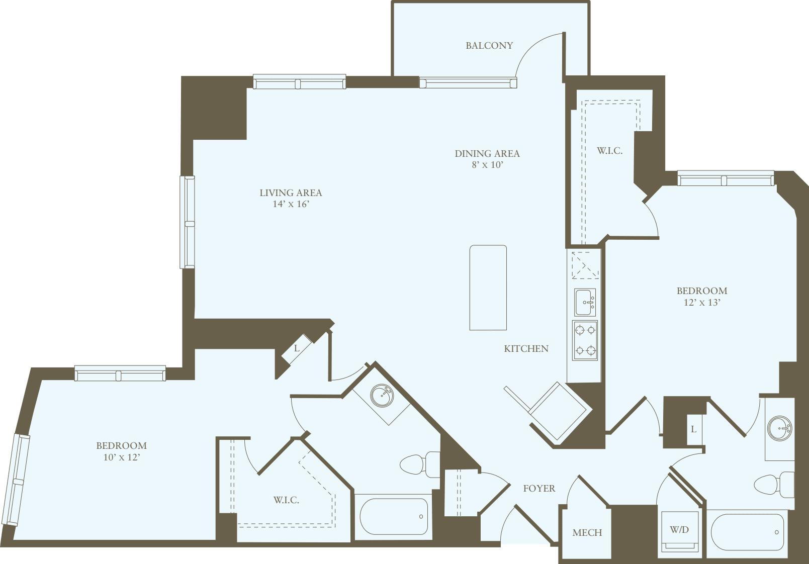 2 Bedrooms GG