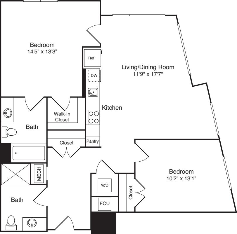 The Flats 2 Bedrooms B