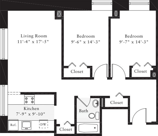 The Lofts 2 Bedrooms C