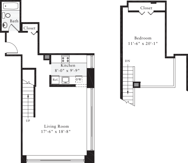The Lofts 1 Bedroom H
