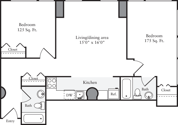 The Lofts 2 Bedrooms H