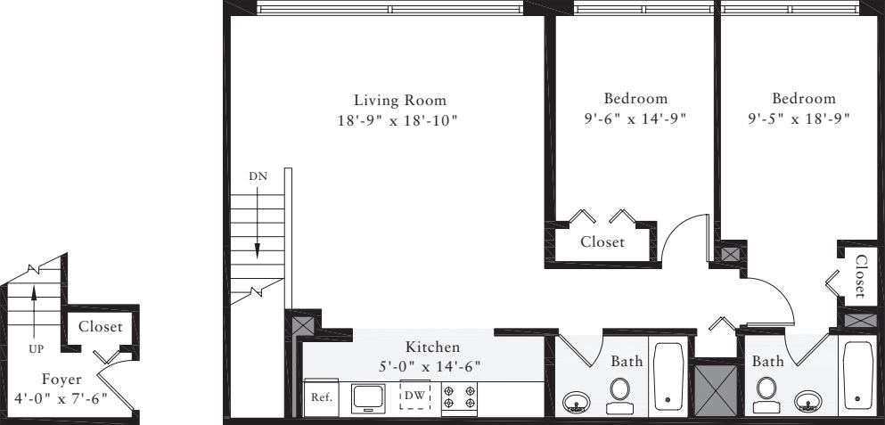 The Lofts 2 Bedrooms J