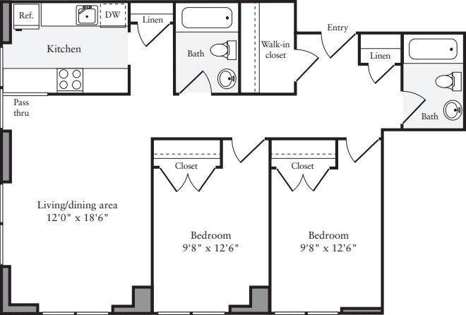 The Lofts 2 Bedrooms M