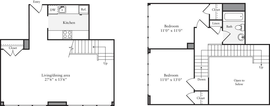 The Lofts 2 Bedrooms U
