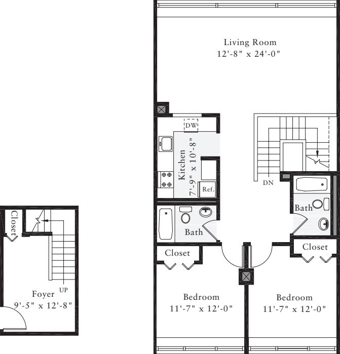 The Lofts 2 Bedrooms CC