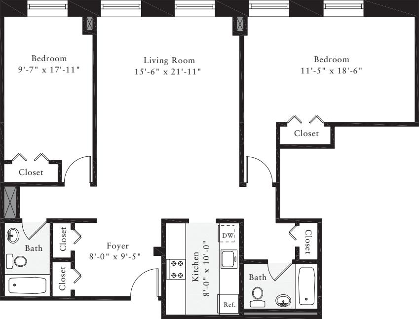 The Lofts 2 Bedrooms JJ