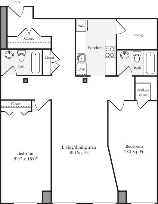 The Lofts 2 Bedrooms LL