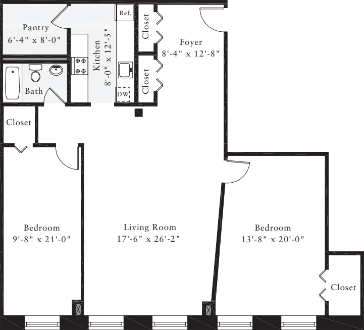 The Lofts 2 Bedrooms NN