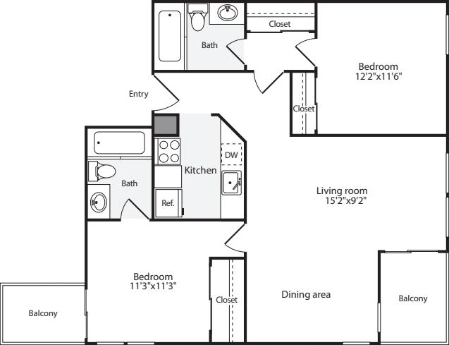2 Bedrooms I