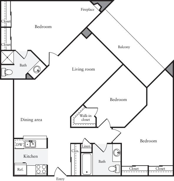3+ Bedrooms D
