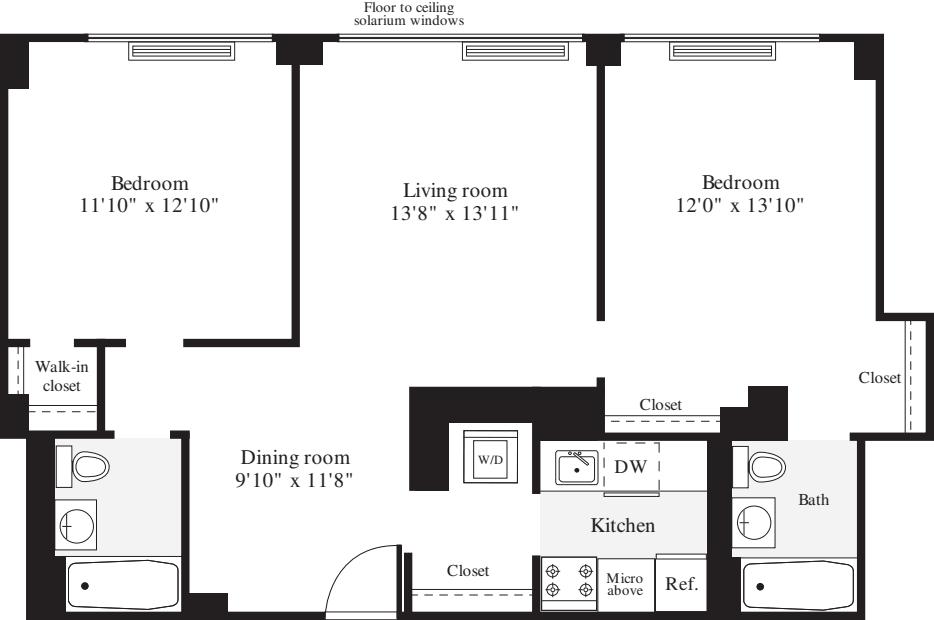 2 Bedrooms E