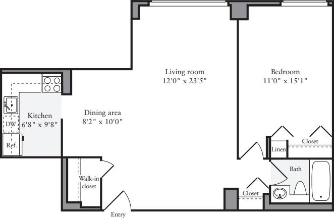 1 Bedrooms E