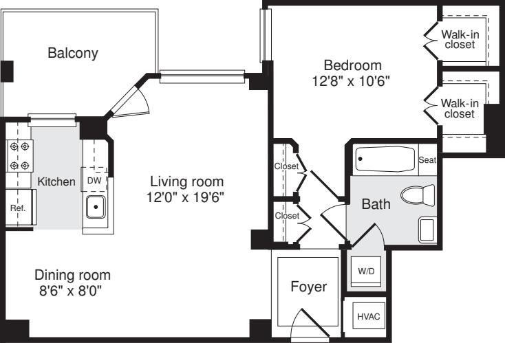 1 Bedroom W