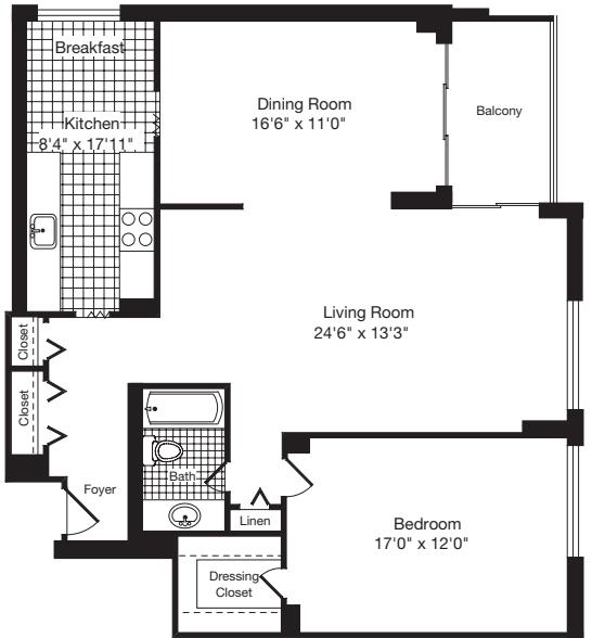 1 Bedroom EE