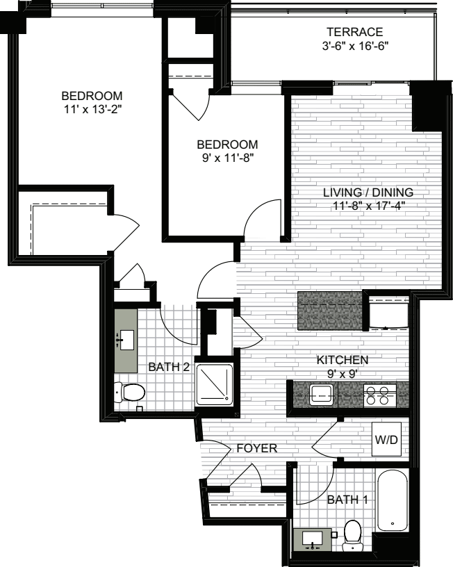 2 Bedrooms G