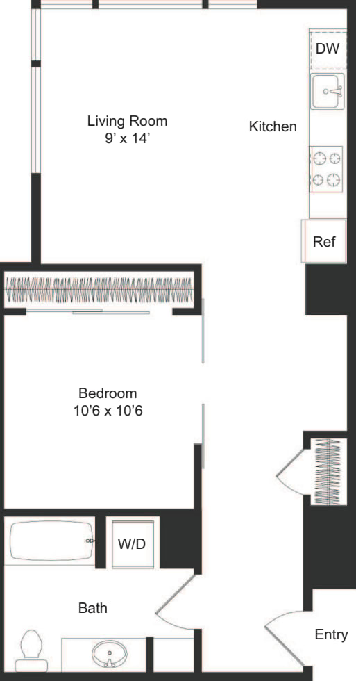 One Bedroom C1