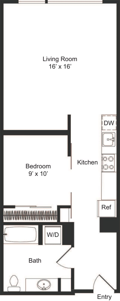 One Bedroom B1