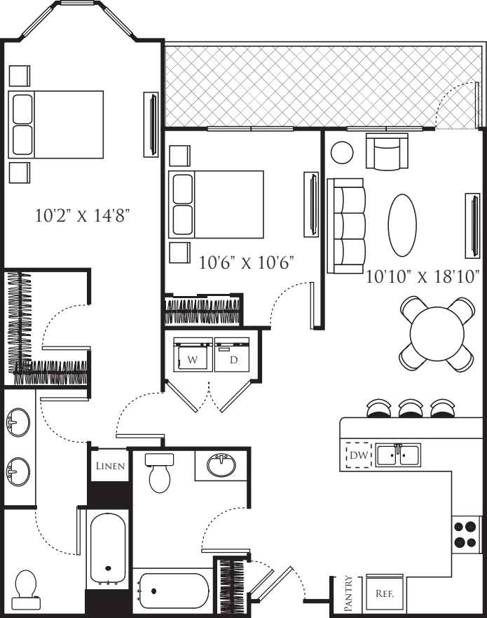 Two Bedroom M