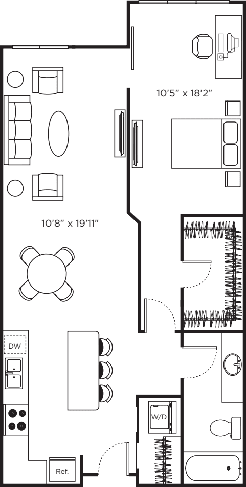 One Bedroom T_NOBALCONY