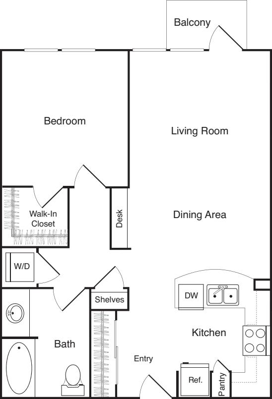 One Bedroom - D