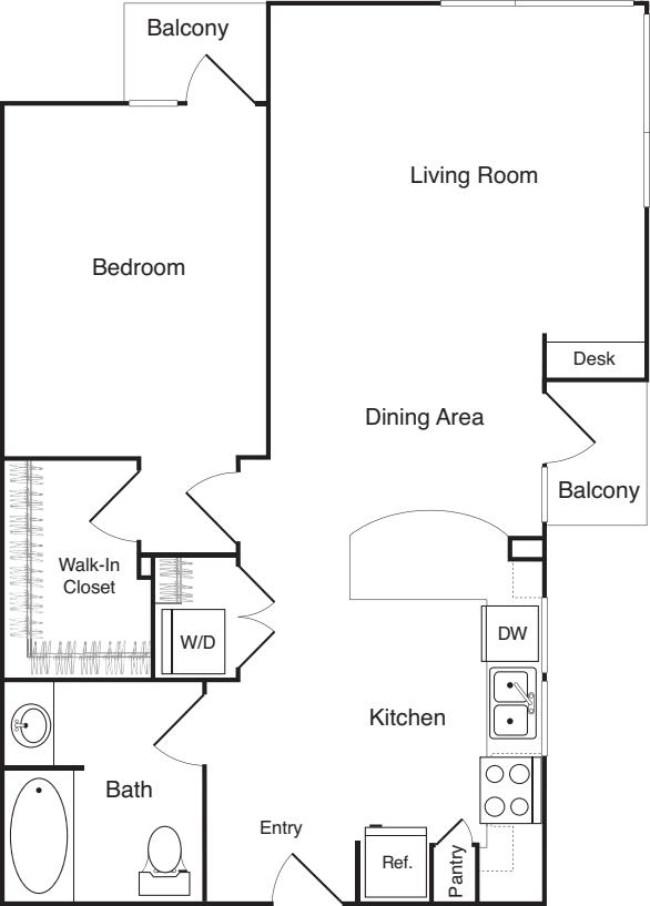 One Bedroom - H