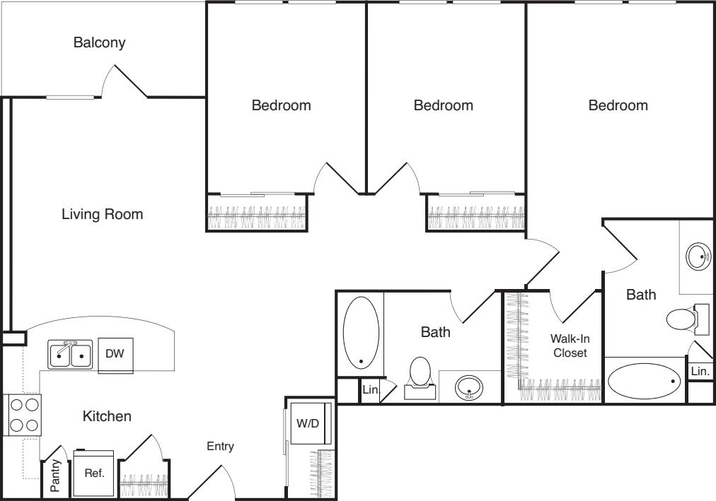 Three Bedroom - B
