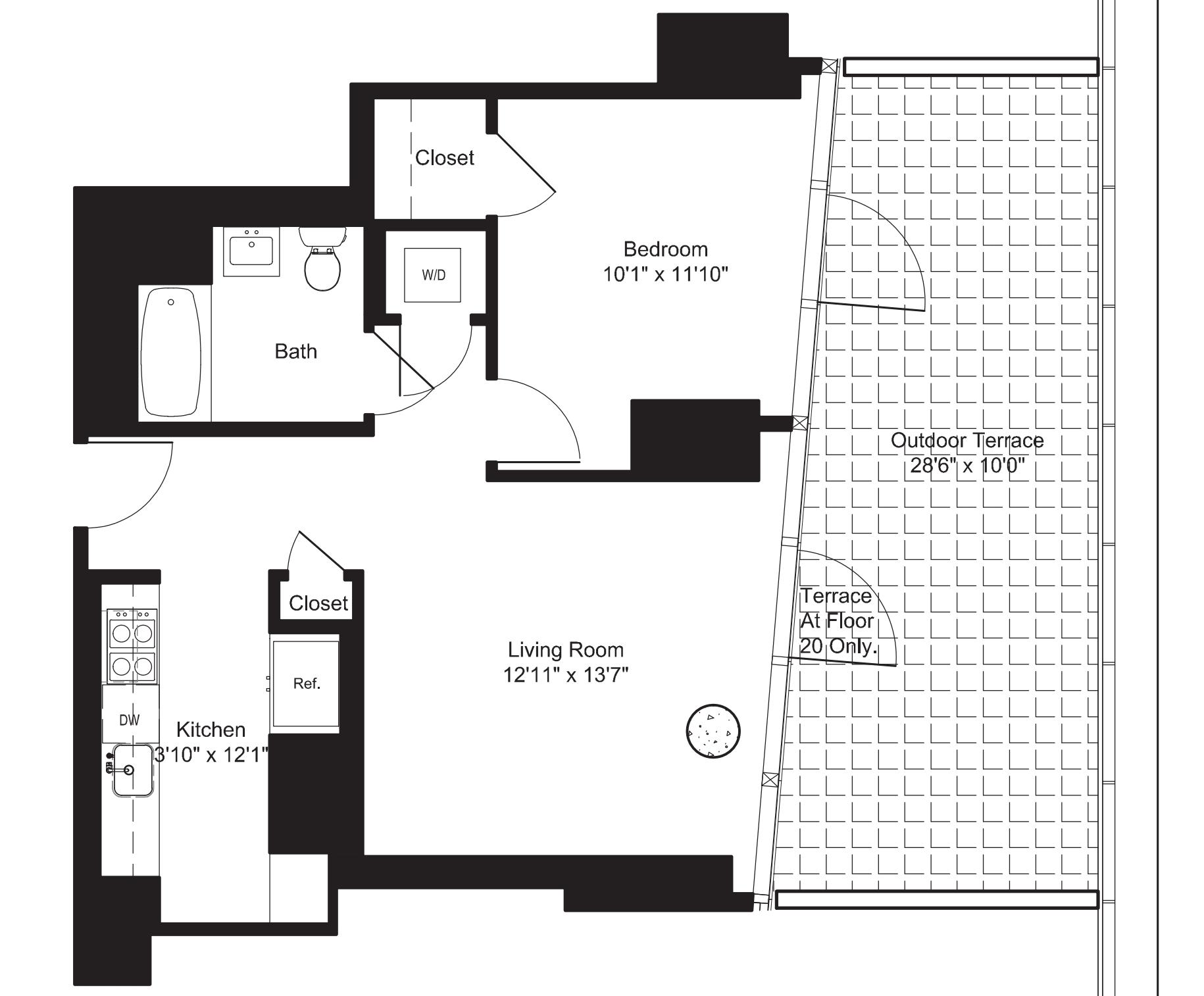 One Bedroom E 20