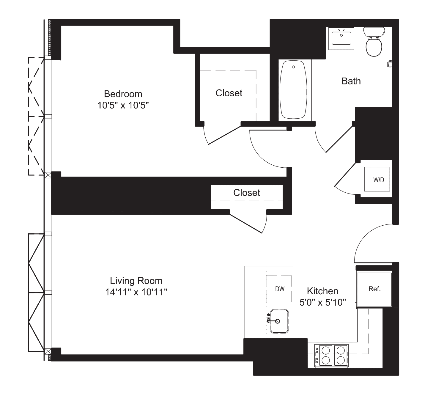 One Bedroom A 20-22
