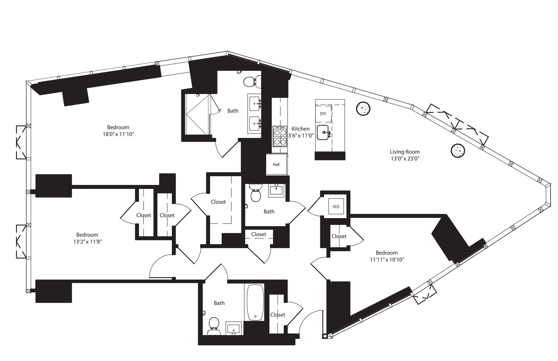 Three Bedroom I 20, H 21-22