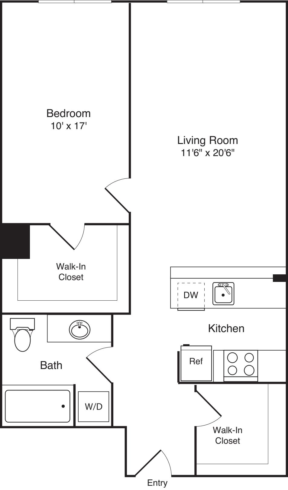 1 Bedroom K plus Den
