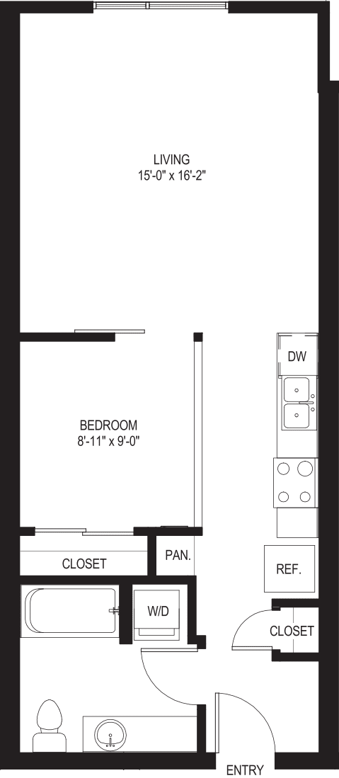 One Bedroom O1-A