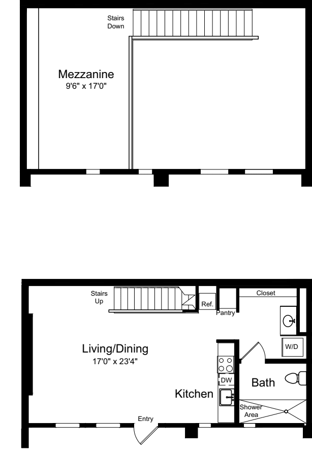 One Bedroom Loft A
