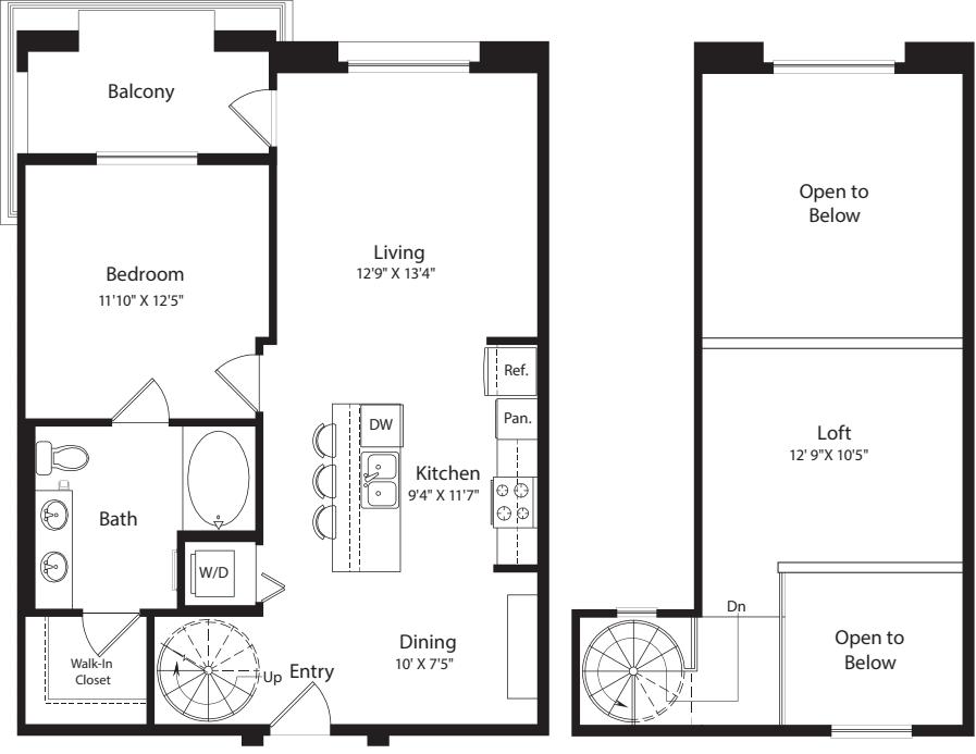 1 Bed- U21 Loft 942