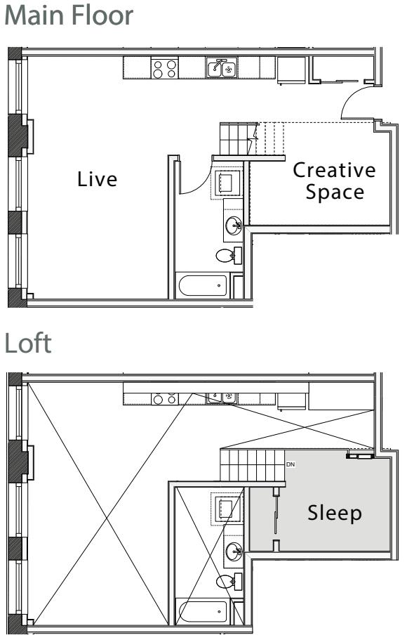 1 Bedroom Loft F