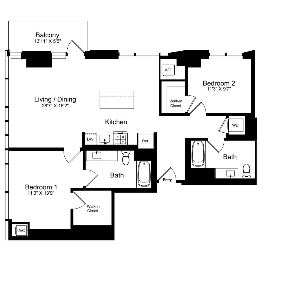 2 Bedroom R