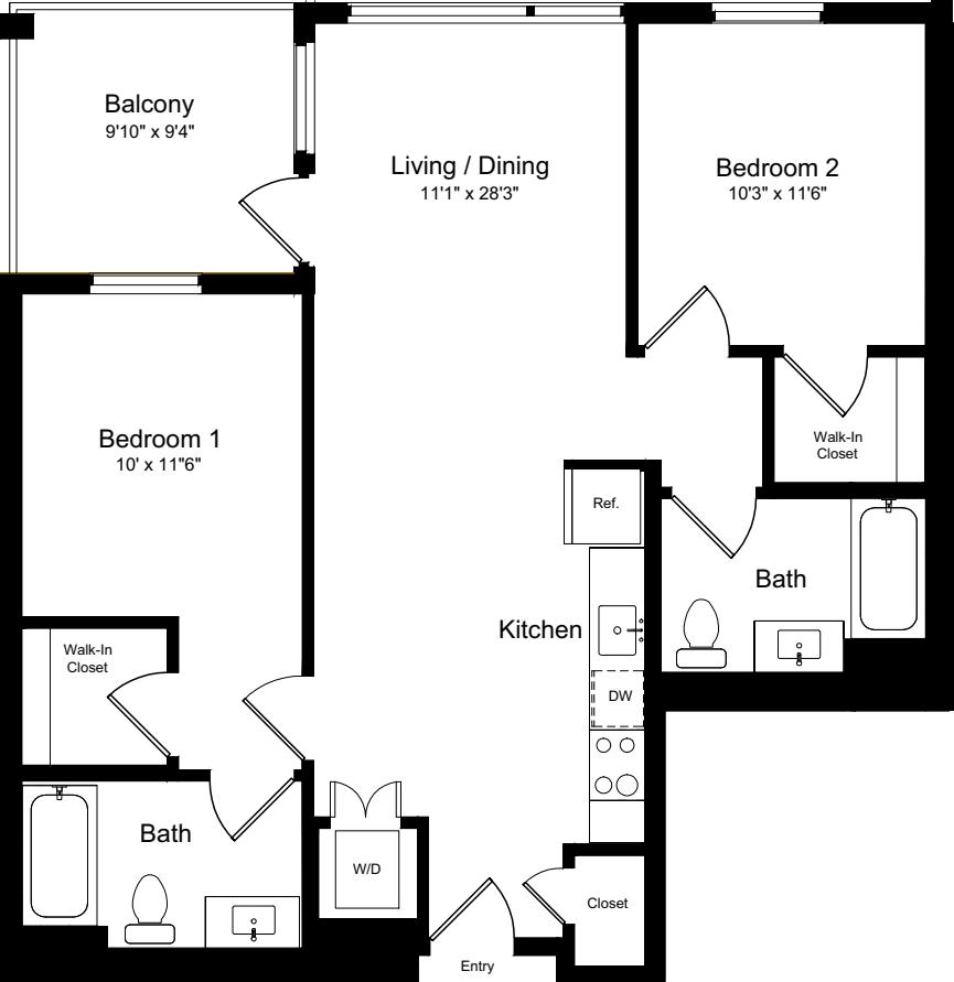 2 Bedroom AB