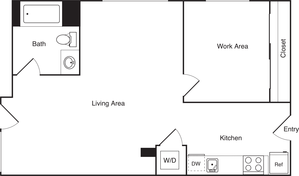 1 Bedroom R