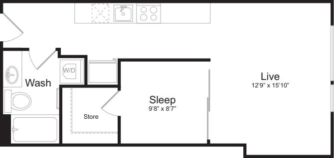 Open 1 Bedroom A