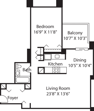 Longfellow One Bedroom -B
