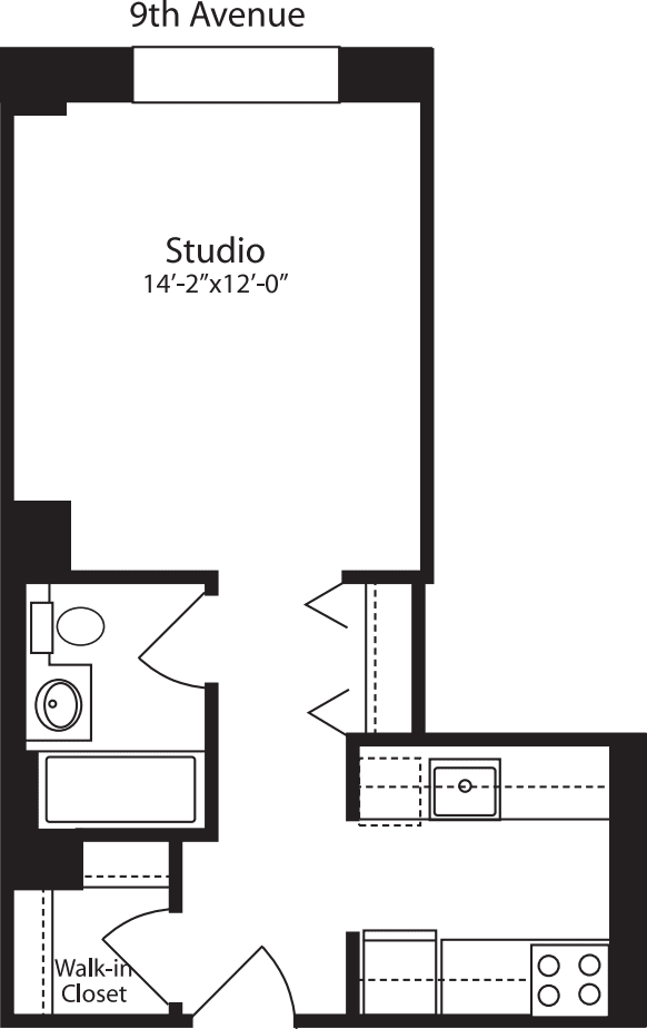 Plan M, floors 3-10