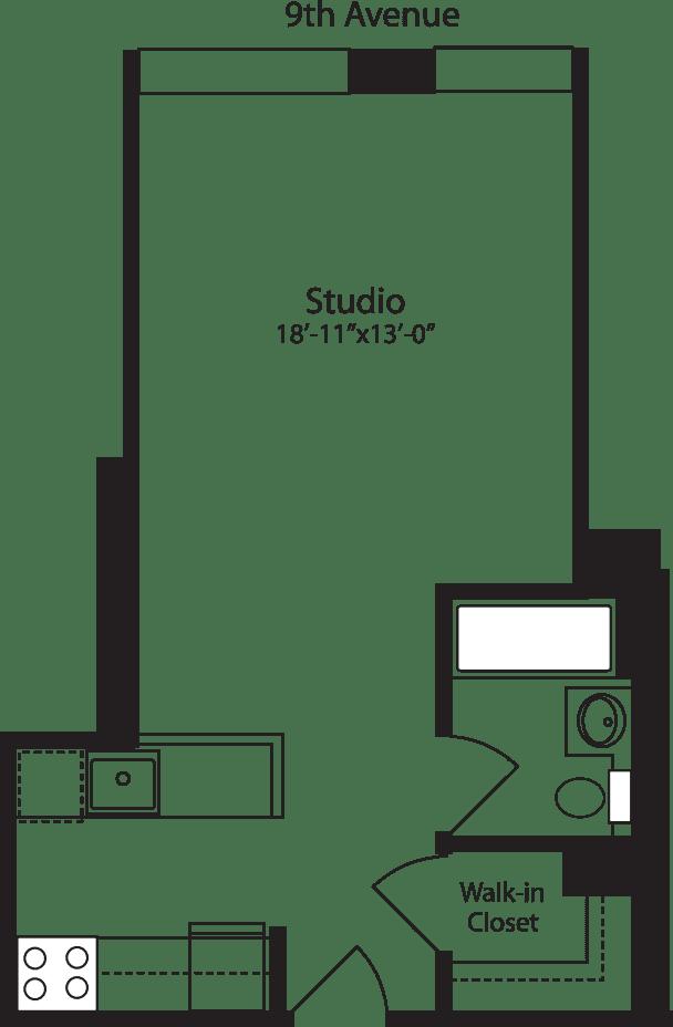 Plan P, floors 3-10