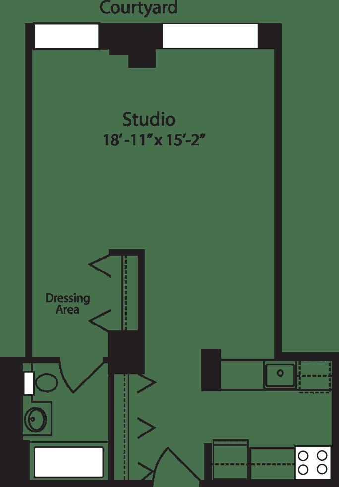 Plan C, floors 4-15