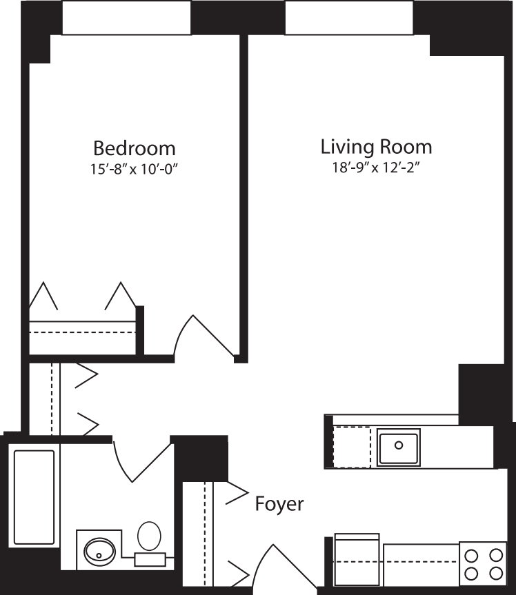 Plan V, floors 4-10