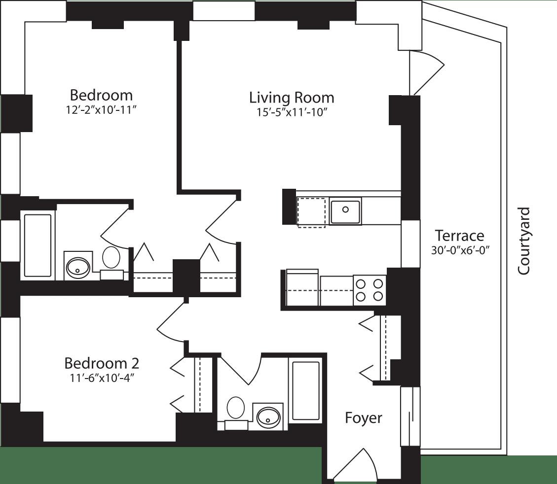 Plan E, floor 3